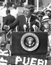 President John F. Kennedy, photo courtesy of the Pueblo Chieftain