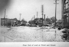 1921 Flood, Pueblo Colorado, photo courtesy of the Pueblo City-County Library District