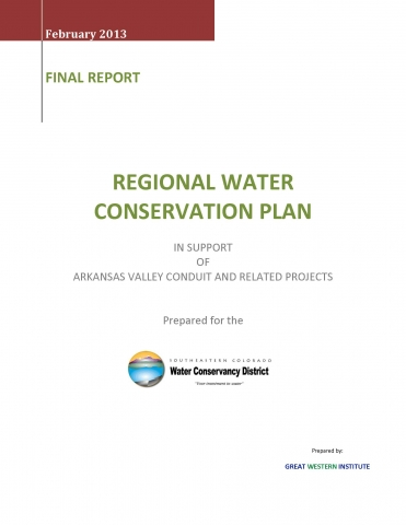 Regional Water Conservation Plan