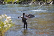 Fly fishing on the upper Arkansas River, photo courtesy of Carla Quezada